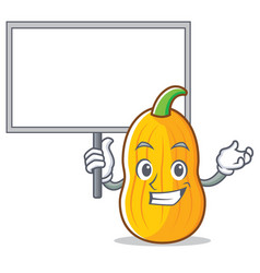 Bring board butternut squash character cartoon vector