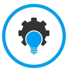 Bulb Configuration Rounded Icon vector image