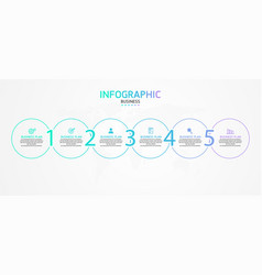 business infographic template thin line design vector image