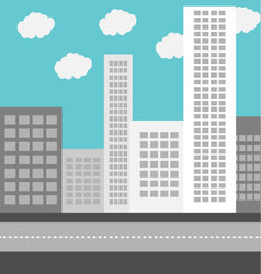 Business urban district building vector image
