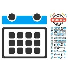 Calendar Month Icon With 2017 Year Bonus Symbols vector image