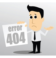 Cartoon error vector