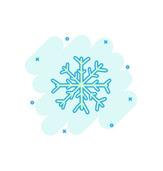 cartoon hand drawn snowflake icon in comic style vector image