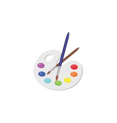 Color image palette of colors paints vector