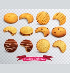 Cookies transparent set vector