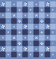 Cute flower with indigo square background vector