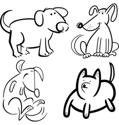 dogs or puppies for coloring vector image