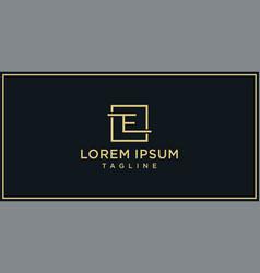 E elegance logo design vector