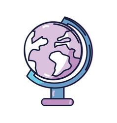 earth planet desk tool decoration vector image
