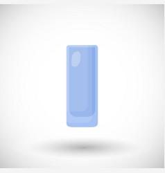 Empty highball glass flat icon vector
