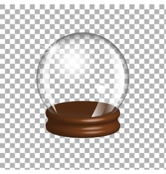 Empty snow globe vector image
