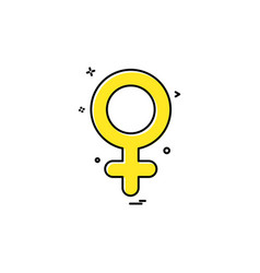 female icon design vector image