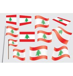 Flag of Lebanon vector