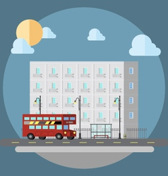 Flat design of cityscape street vector image