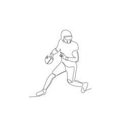 Football player running and keep ball vector