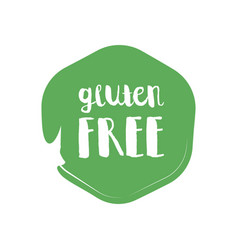 Gluten free circle letters in grunge round vector