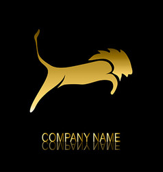 golden lion symbol vector image