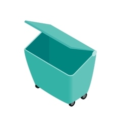 Green garbage container icon isometric 3d style vector image