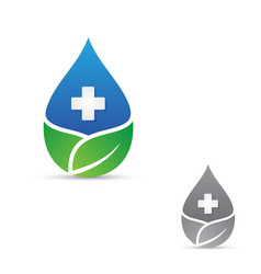 health droplet leaf vector image