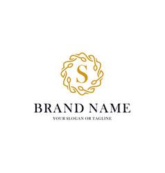 Initial letter s luxury ornament logo design vector