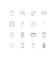Internet of things linear thin icons set outlined vector