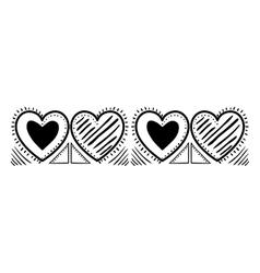 Isolated love heart design vector