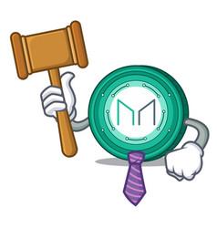 Judge maker coin mascot cartoon vector