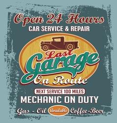 Last vintage garage vector