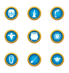 Lethal icons set flat style vector