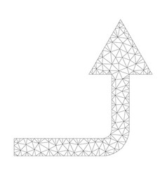 Mesh turn forward icon vector