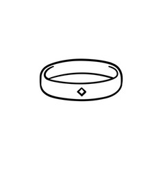 Metal bracelet hand drawn sketch icon vector