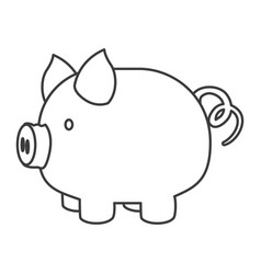 Monochrome silhouette of piggy bank vector