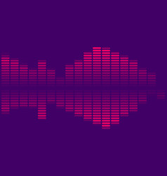 music equalizer isolated on dark background vector image