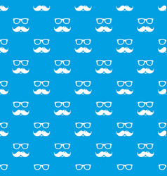 nerd glasses mustaches pattern seamless vector image