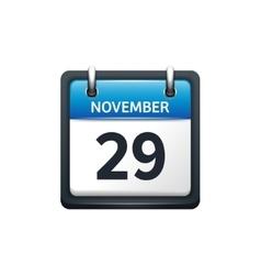 November 29 calendar icon vector
