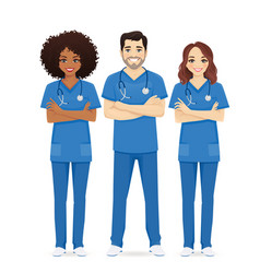 nurse characters group vector image