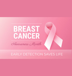 october breast cancer awareness month calm pink vector image
