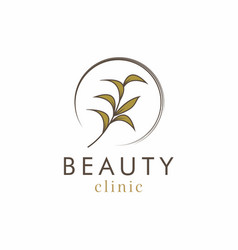olive beauty clinic logo design vector image