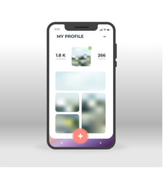 online social network profile ui ux gui screen vector image