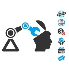 Open Head Surgery Manipulator Icon With Free Bonus vector