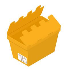 opened box icon isometric style vector image