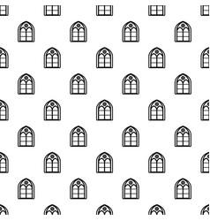Oriental window frame pattern seamless vector
