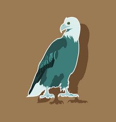 Paper sticker on theme of andorra eagle vector
