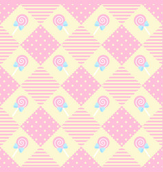 pattern lollipop geometry pastel theme vector image