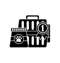 Pet transporter award ribbon food icon image vector