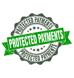 protected payments stamp sign seal vector image