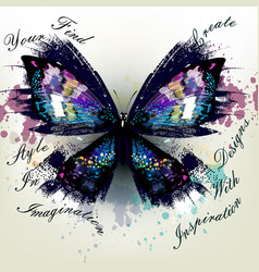 realistic butterfly find your style vector image