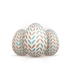 Realistic Easter Egg Painted Egg vector