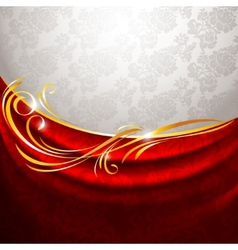 Red fabric drapes vector