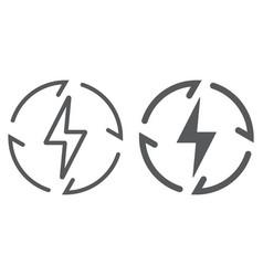 renewable energy line and glyph icon ecology vector image